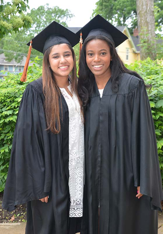 2 Elgin Academy Girls on Graduation Day