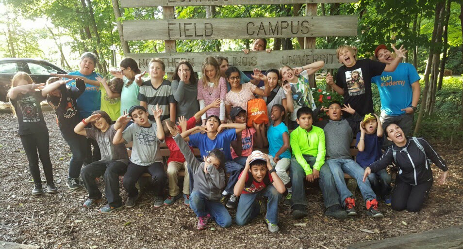 Elgin Academy junior high students on field trip to Northern Illinois University