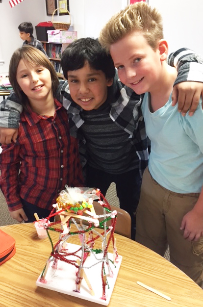 middle school students who completed a structural design project