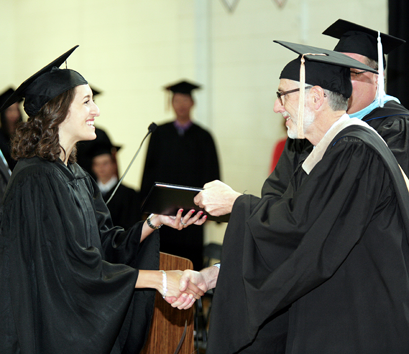 girl graduating from private school